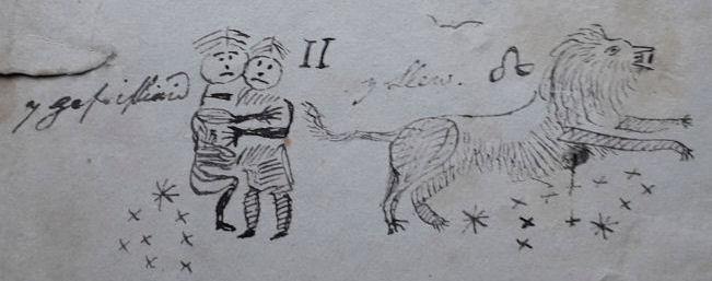 Panel 3 (5 a 6) Gefeilliaid a Llew Llyfr Cownt