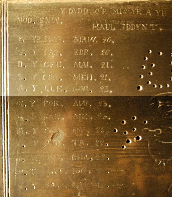 Panel 3 Dyddiadau'r Sidydd (o DSC_0476 a 0478) bach